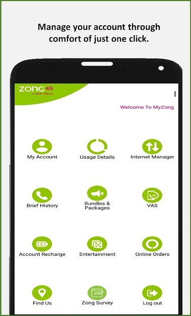 Install My Zong App