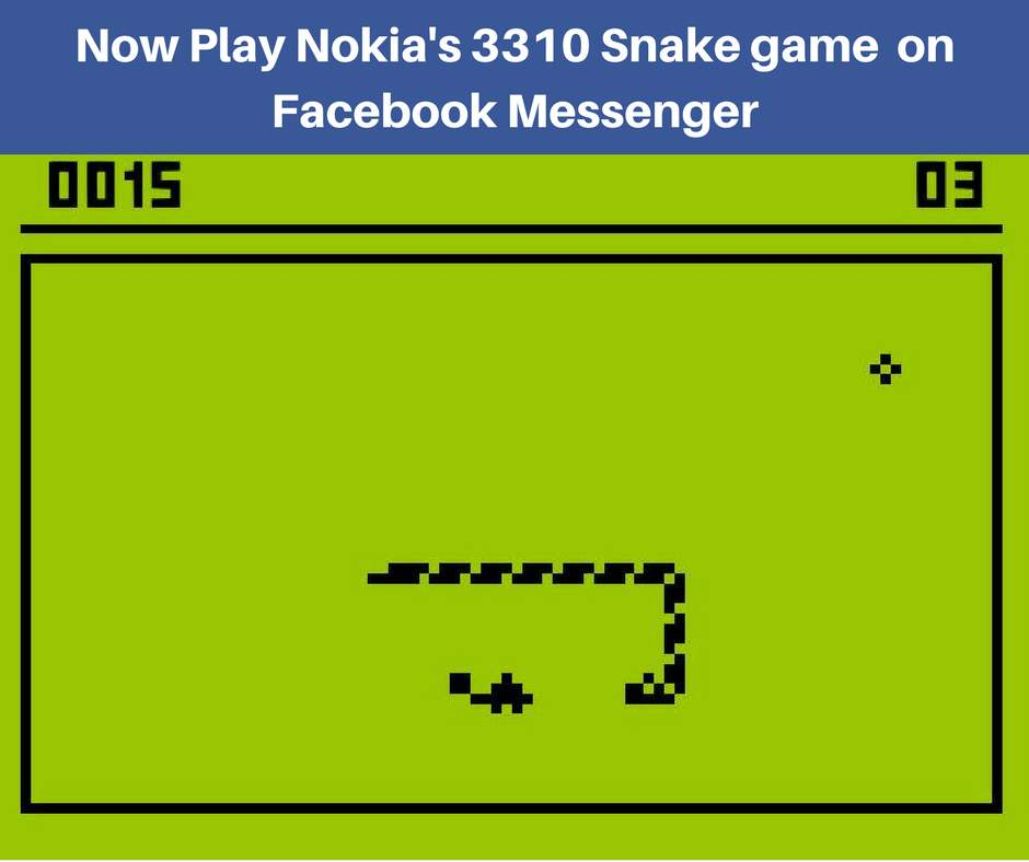 Iconic Nokia's 3310 Snake game is back on Facebook Messenger