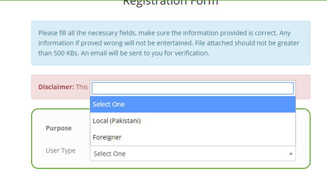 DIRBS Registration Step 03