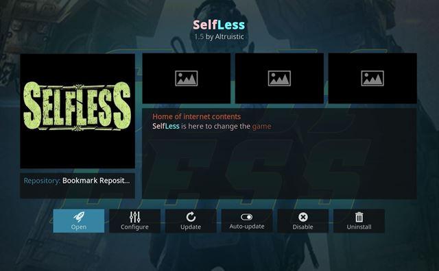 Selfless Kodi