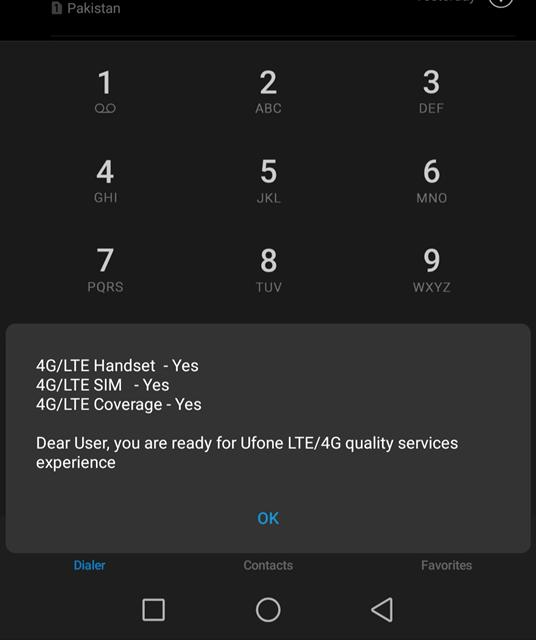 Ufone 4G Settings