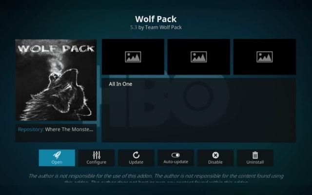 Wolf Pack Kodi