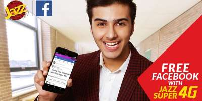 Jazz Packages With Jazz Free Facebook Package, Customers can now enjoy Free Facebook on Mobilink