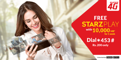 Jazz Packages Enjoy Free STARZPLAY by Cinepax with Jazz Weekly Mega Plus Offer