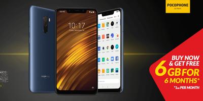 Purchase Xiaomi Pocophone F1 from Jazz eShop to enjoy FREE 6GB Internet